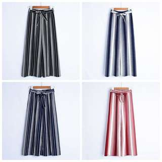 New Korean Women's Wide leg pants female nine Clear