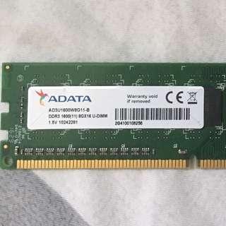Adata Ddr3 1600 8gb Ram