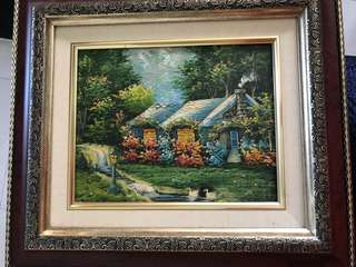 Acrylic painting with frame
