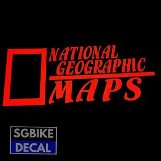 Reflective National Gepgrahic Decal