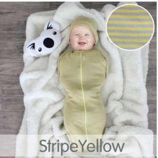 CuddleMe Hybrid Swaddle Pod-STRIPE YELLOW