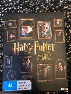 HARRY POTTER FULL DVD SET (blue ray)