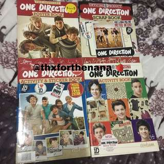 Official 1D One Direction books  (Harry Styles + Louis Tomlinson + Niall Horan + Liam Payne + Zayn Malik)