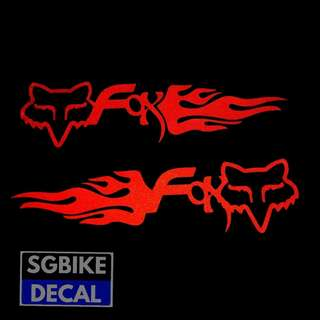Fox Reflective Red Decal 1pair