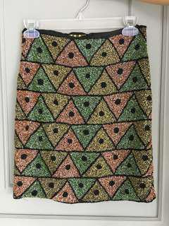 Fully beaded skirt