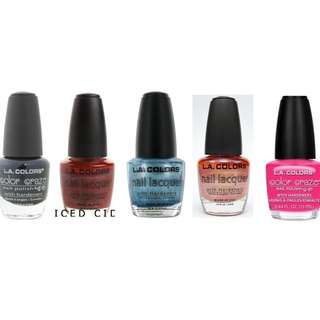 L.A colors - nail polishes - 6 for $10