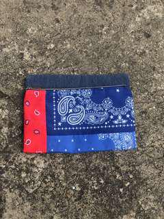 Paisley Pouch denim / satin