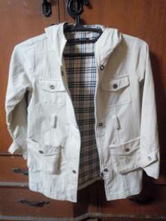 Checkered mini trench coat..