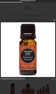 Eden's Garden Cinnamon Leaf Essential Oil 10ml