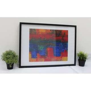 City Skyline at Sunset - Steve Johnson. 42x59 cm (Art), 50x70cm (Frame) Framed Art Print. Ships in 2 working days.