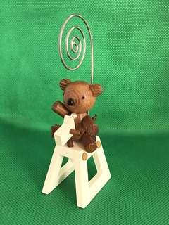 Rocking Chair Baby Bear Memo Holder