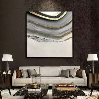 🚚 Abstract Art Oil Painting 90cm x 90cm