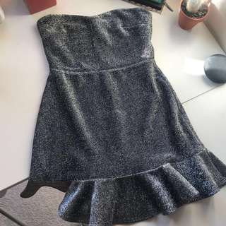 Topshop Petite sparkly silver dress