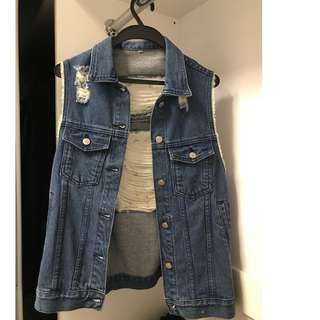 New Ripped Fashion Jeans Jacket