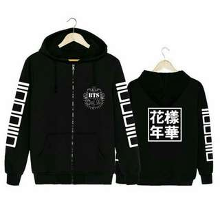 ❗PRE ORDER BTS Hoodie Zip (Black)❗  Only available for size: S,M,L,XL