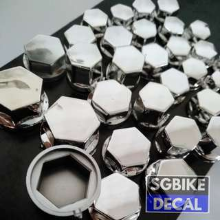 Chrome Nut Cover  Set