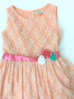 Repriced-Periwinkle Peach Lace Party Dress size 8