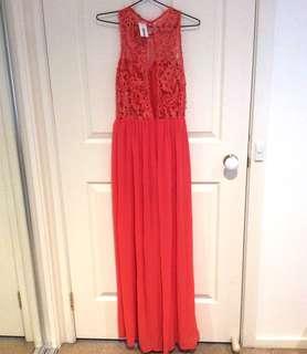 Orange Lace Jumpsuit (BRAND NEW)