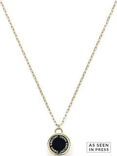 MARC JACOBS Enamel Logo Hinge Pendant Necklace - Gold Plated