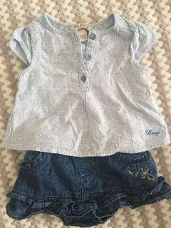 Baby poney top & baby kiko bottom skirt