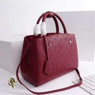 Authentic Quality Louis Vuitton Montaigne Monogram Empreinte Leather 3-Way LV Bag Handbag Shoulder Bag Sling Bag Crossbody Bag Latest Edition Women's Bag