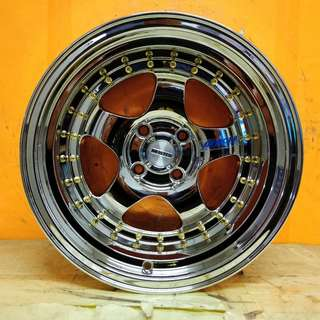 15inch SPORT RIM WORKMEISTER S1 SUPER CHROME GOLD 9JJ