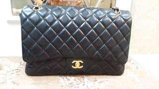 Chanel Maxi Lambskin black ghw #13
