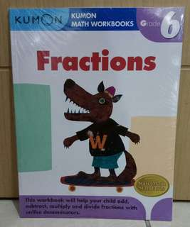Kumon Math Workbooks Fractions Grade 6