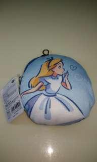 🚚 日版 迪士尼 愛麗絲 伸縮帶 零錢包