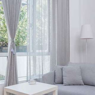 2pc White curtains