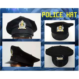 < CATZ > Police Hat Party Accessories Halloween Props Cosplay