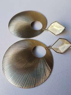 Forever New Gold Drop hoop earrings