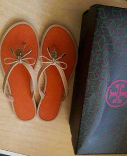 Tory Burch Jelly Bow Logo Sandals p