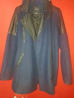 Winter Navy blue coat size 10
