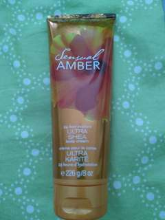 bath and body works (amber) body cream
