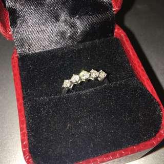 鑽石戒指18k750戒子