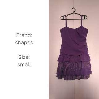 Shapes - Purple cocktail dress