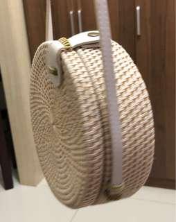 Rattan Bag White (Small)