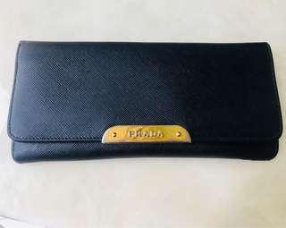 🚚 Prada黑色長夾保證正品