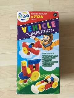Construction toys to build vehicles