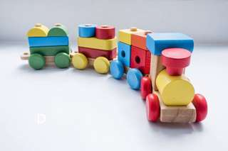 Wooden Stacking Train Toy