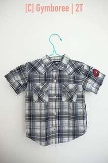 Boys checkered polo short sleeves, 2T