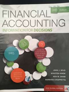 ACC1701/ACC1002 Financial Accounting Information For Decisions