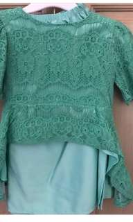 BBD Mint Green Lace kurung