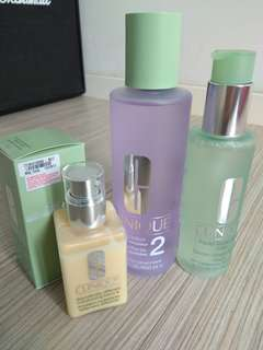 Clinique 3 step skin care very dry to dry combination