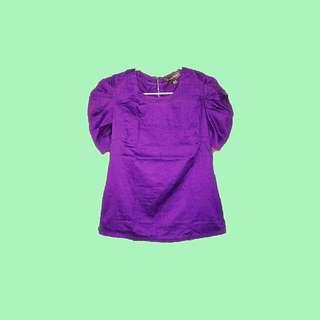 Zipback Violet blouse