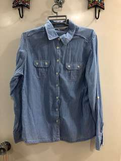 Long Sleeve Cotton Button Down