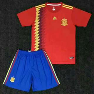 JERSEY BOLA SPANYOL HOME KIDS WORLD CUP 2018 GRADE ORI