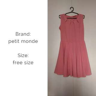Petit monde pink free size dress