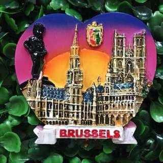 Brussels Belgium souvenir ref magnet